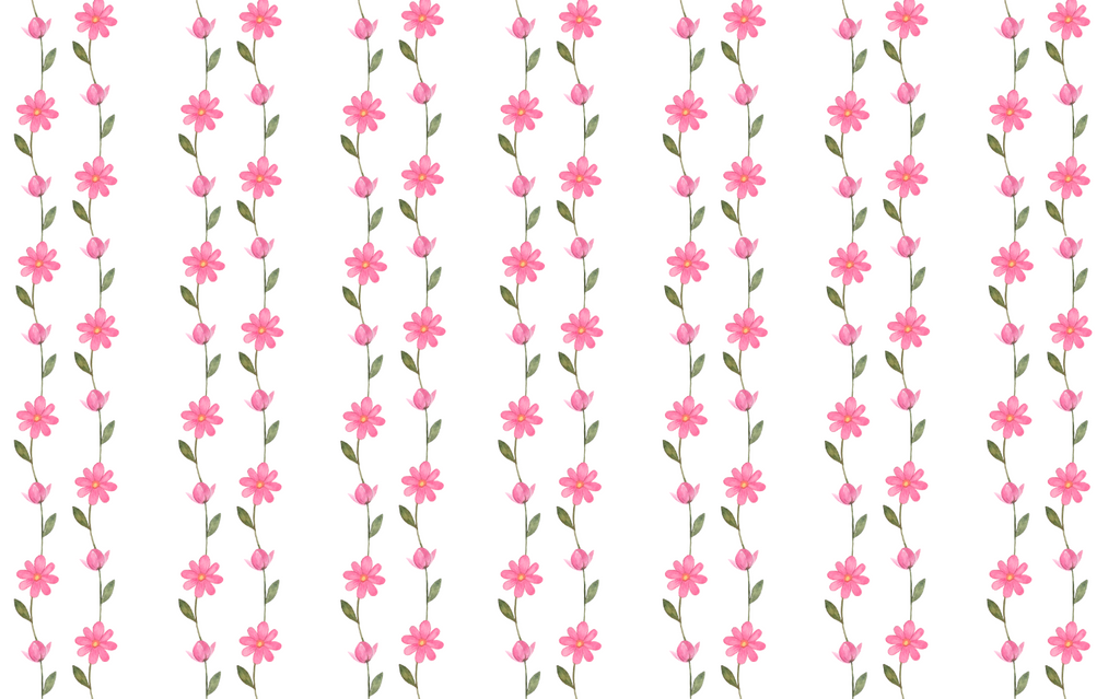 Pink Flower Vines-1 - Backdrop Shop