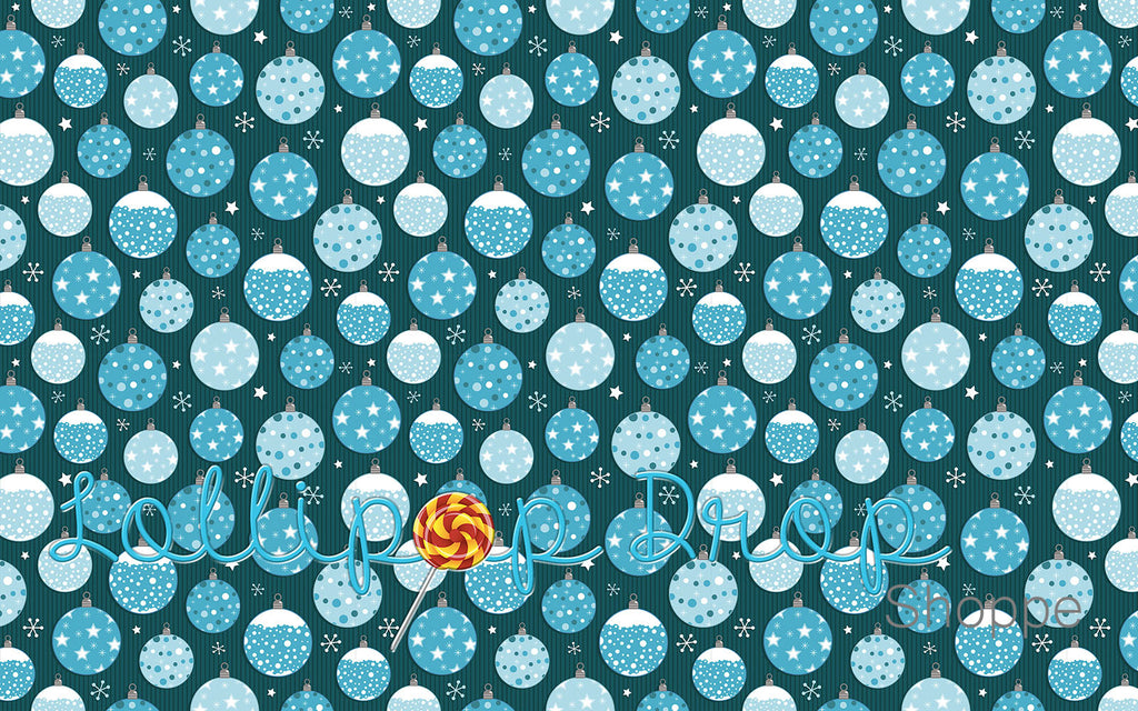 Snowflake Glass Ball - Backdrop Shop