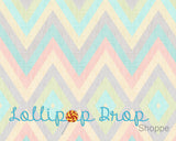 Spring Pastel Chevron - Backdrop Shop