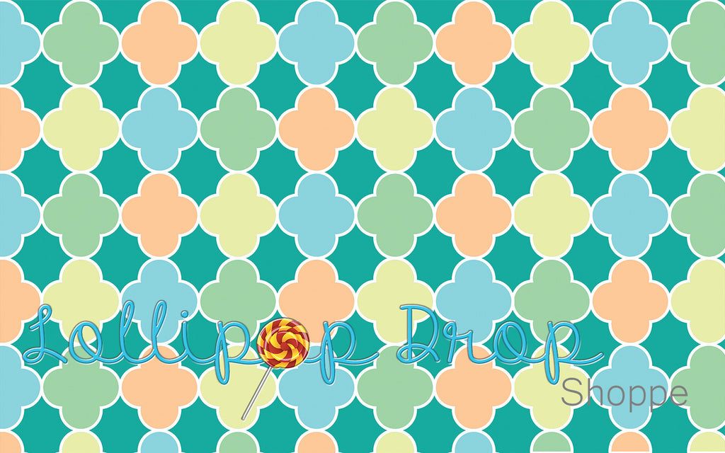 Spring Quatrefoil - Backdrop Shop