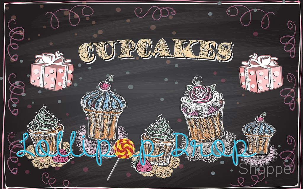 Sweet Cupcakes - Backdrop Shop