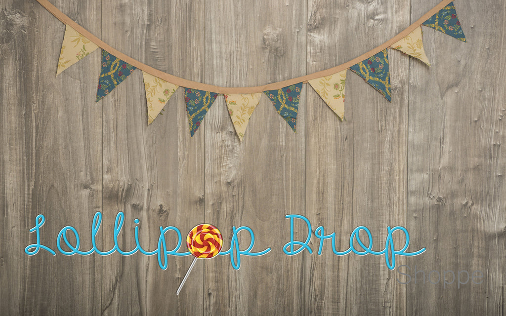 Vintage Wood Bunting - Backdrop Shop