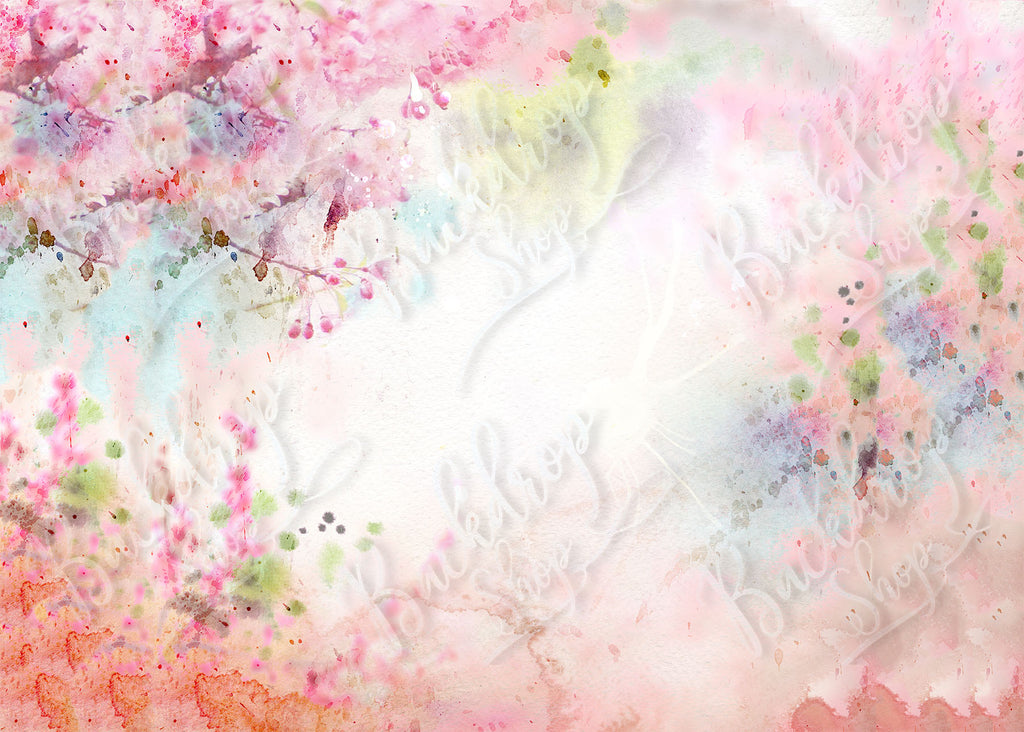 Watercolour Sakura - Backdrop Shop