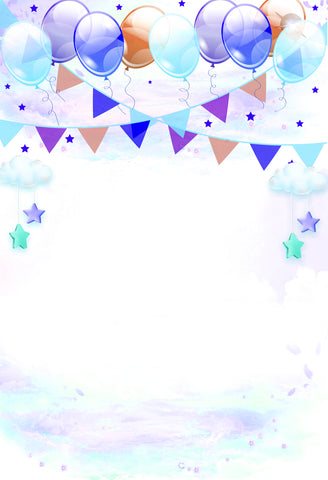 Balloon Birthday backdrop - Backdrop Shop
