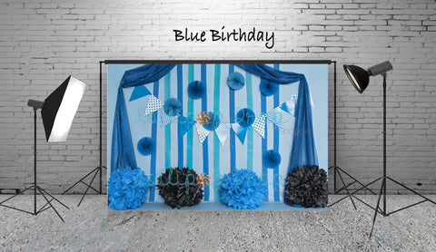 Blue Birthday - Backdrop Shop