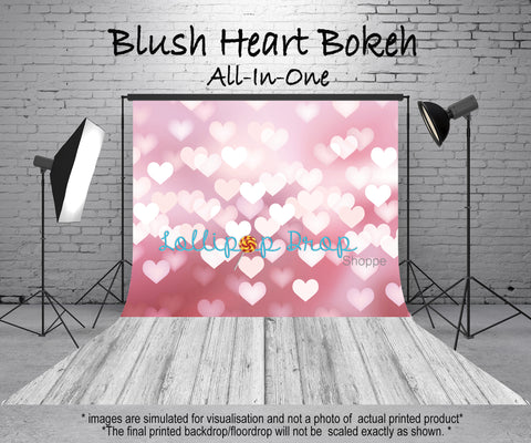 Blush Heart Bokeh - All in One - Backdrop Shop