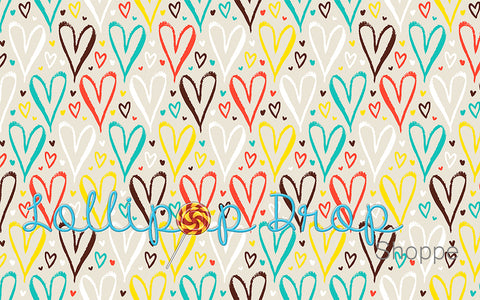 Bright hearts - Backdrop Shop