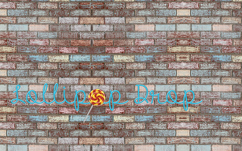 Chalked Brick - Backdrop Shop