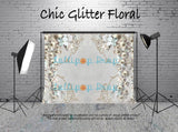 Chic Glitter Floral - Backdrop Shop