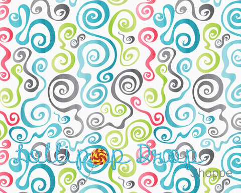 Colourful Spirals - Backdrop Shop