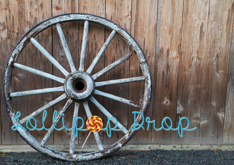 Country Wagon Wheel - Backdrop Shop