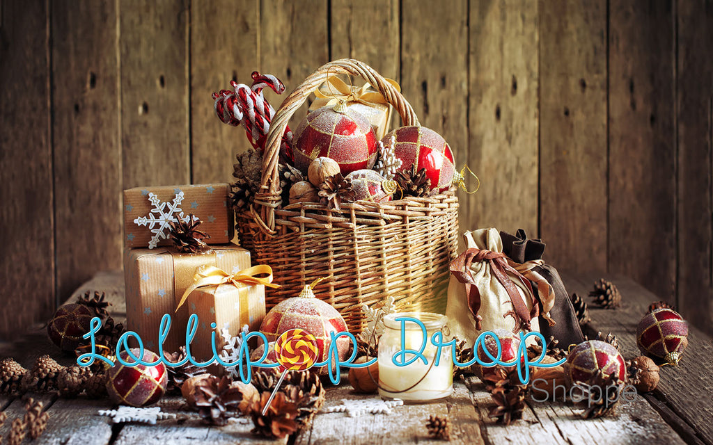 Festive Basket - Backdrop Shop