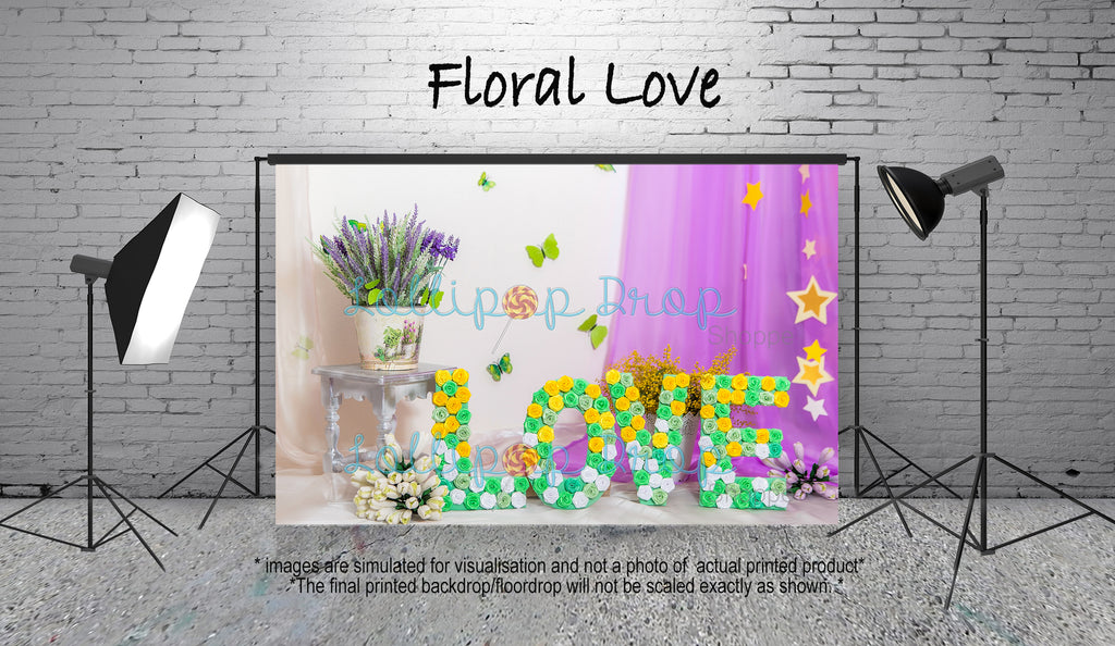 Floral Love - Backdrop Shop