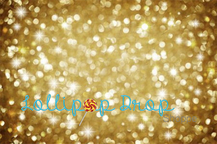 Gold Sparkling Bokeh - Backdrop Shop
