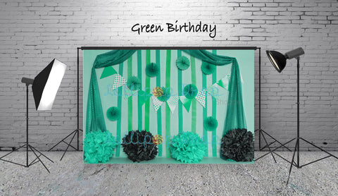 Green Birthday - Backdrop Shop