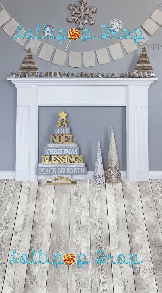 Grey Festive Fireplace-All in One