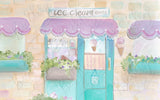 Painted Ice Cream Shop - Backdrop Shop