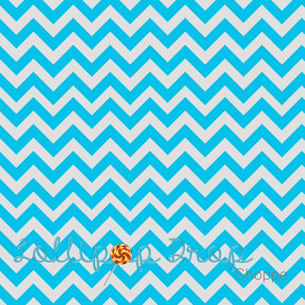 Light Blue Chevron - Backdrop Shop