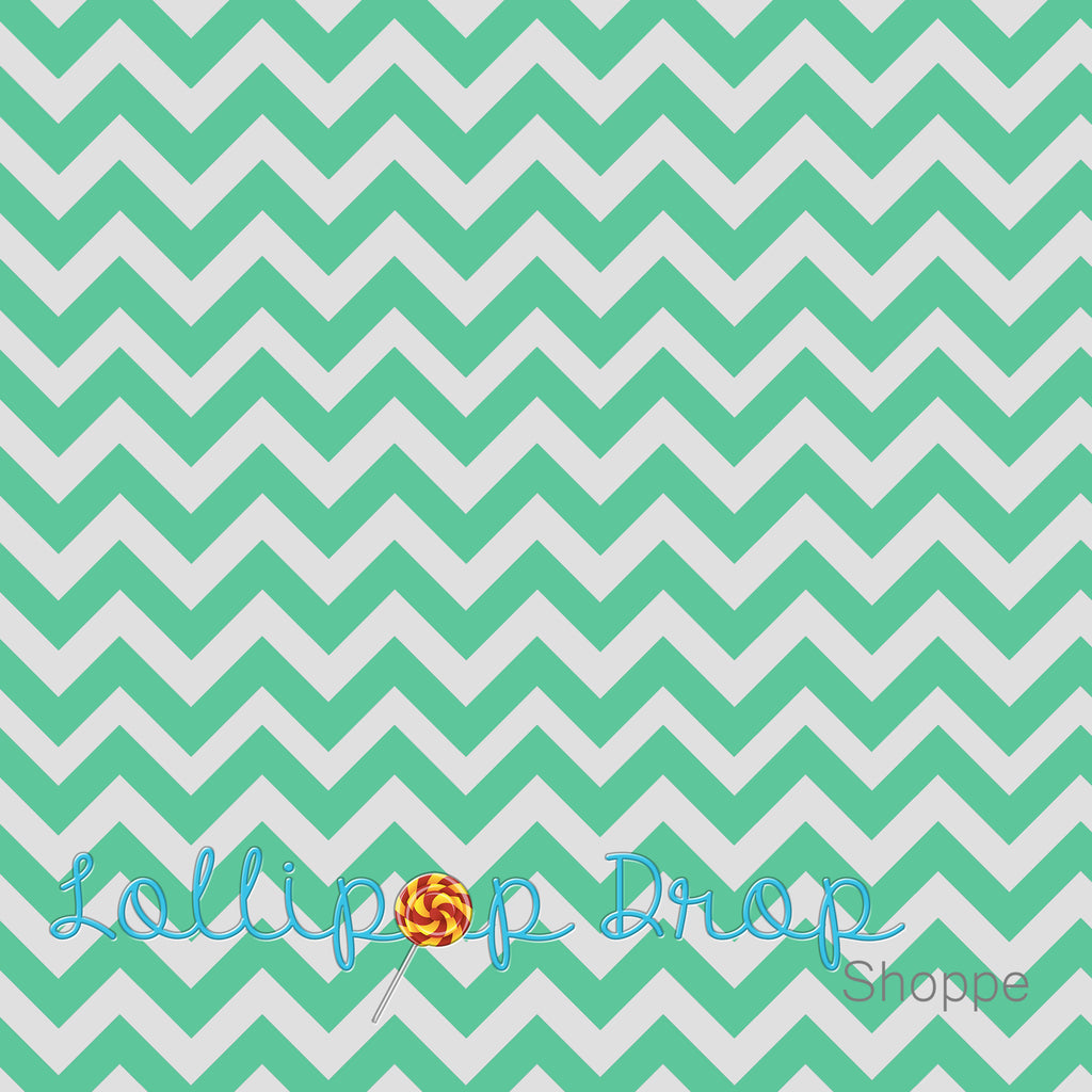 Light Green Chevron - Backdrop Shop