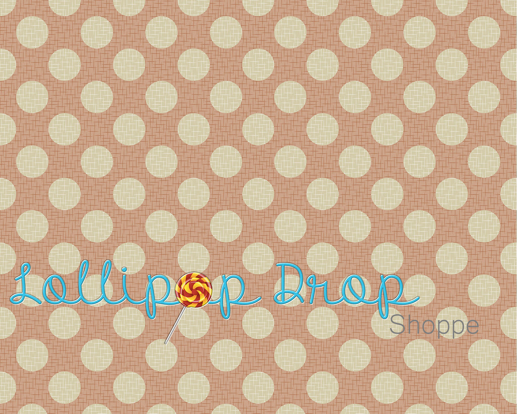 Shabby Peach Dots - Backdrop Shop