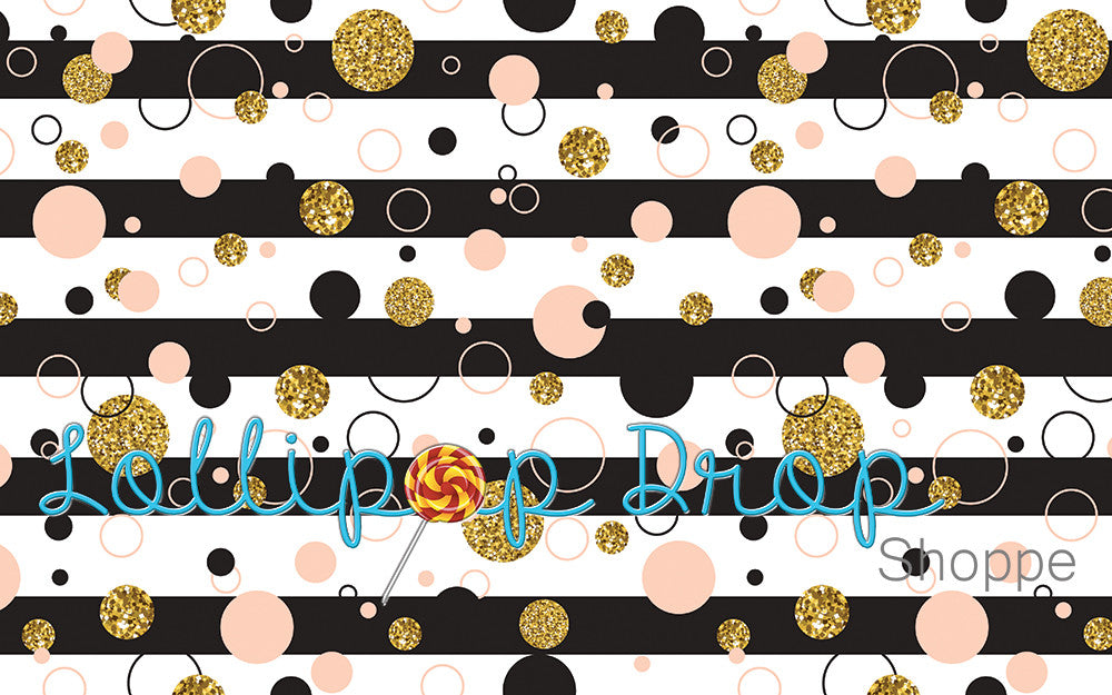 Pink and Gold Polka Dots - Backdrop Shop