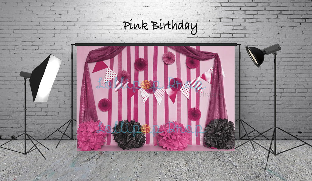 Pink Birthday - Backdrop Shop