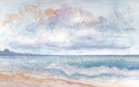 Painted Seascape - Backdrop Shop