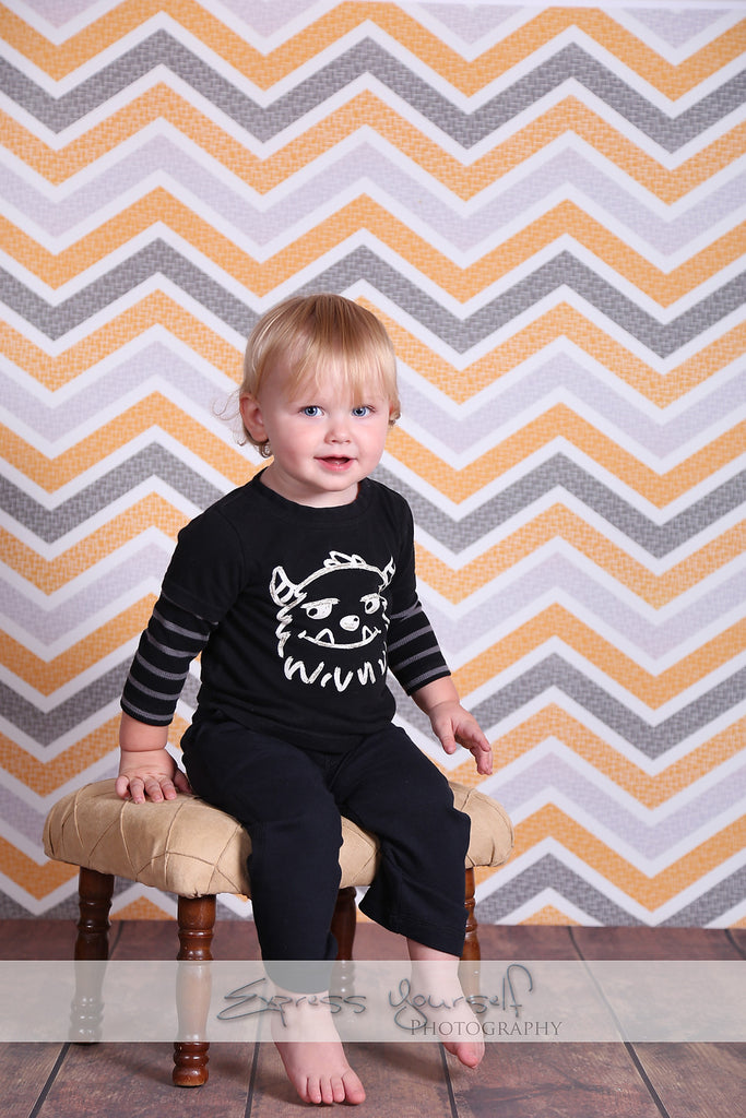 Shabby Halloween Chevron - Backdrop Shop