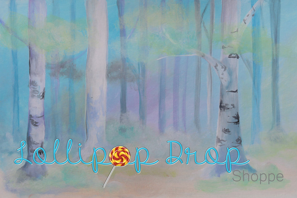 Soft Painted Forest - Backdrop Shop