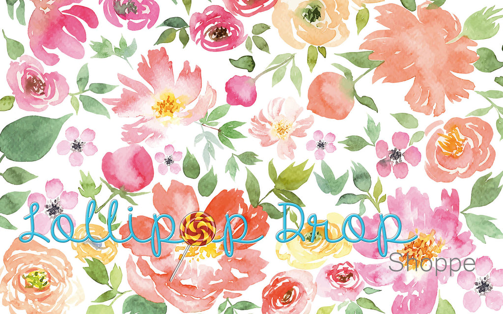 Spring Floral Watercolour - Backdrop Shop