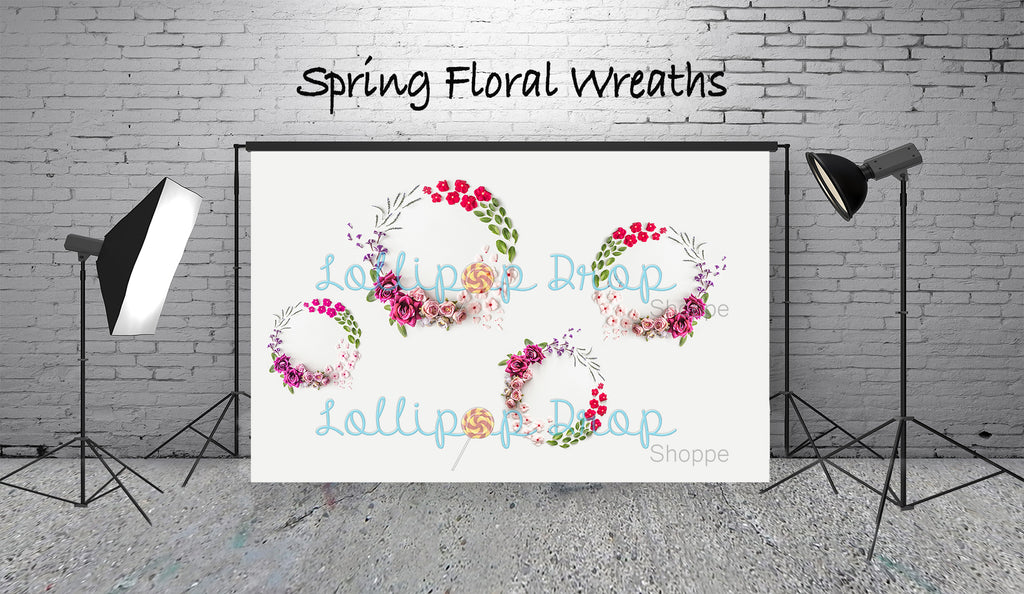 Spring Floral Wreaths - Backdrop Shop