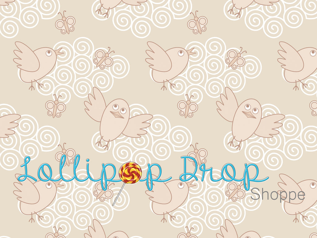 Swirly Birdies - Backdrop Shop