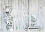 White Holiday Ladder - Backdrop Shop