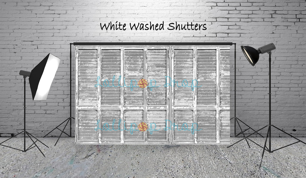 White Washed Shutters - Backdrop Shop