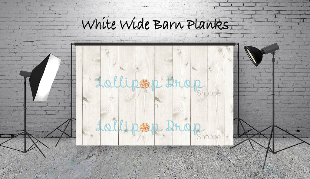 White Wide Barn Planks - Backdrop Shop