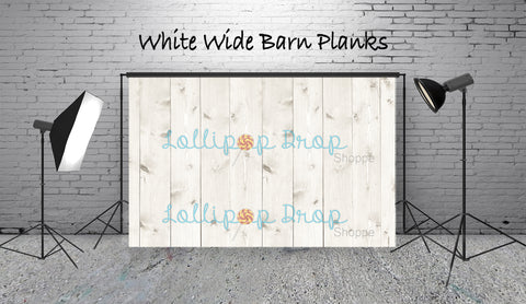 White Wide Barn Planks