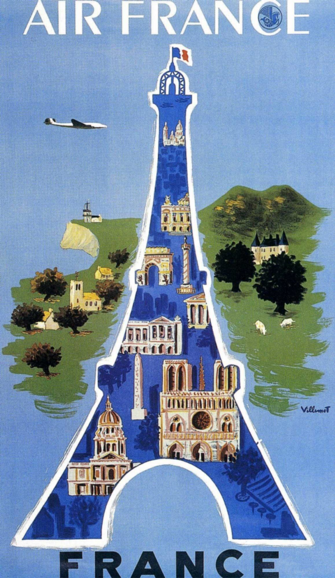 Affiche Musee Air France 50 cm x 70 cm - FRANCE