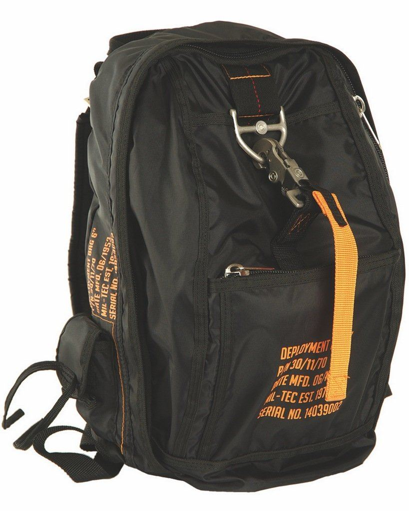 SAC A DOS MILITARY MODE PARACHUTE NOIR