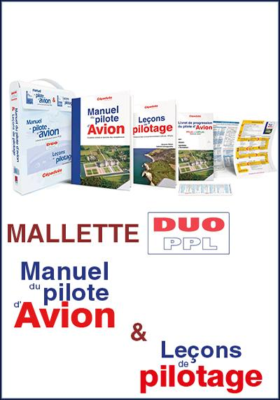 LA MALLETTE DUO PPL FORMATION PILOTE PRIVE VFR -IFR - PPL Editions Cépadues