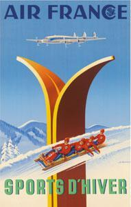 Affiche Musee Air France 50 cm x 70 cm 48 SPORTS D'HIVER