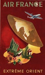 Affiche Musee Air France 50 cm x 70 cm 326 EXTREME ORIENT