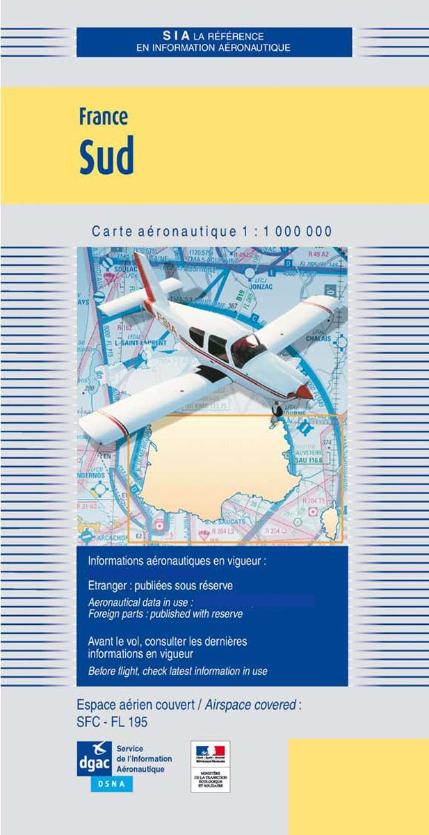 Carte France Sud - 2020 1/1000000 DOCUMENTATIONS DU SIA SIA