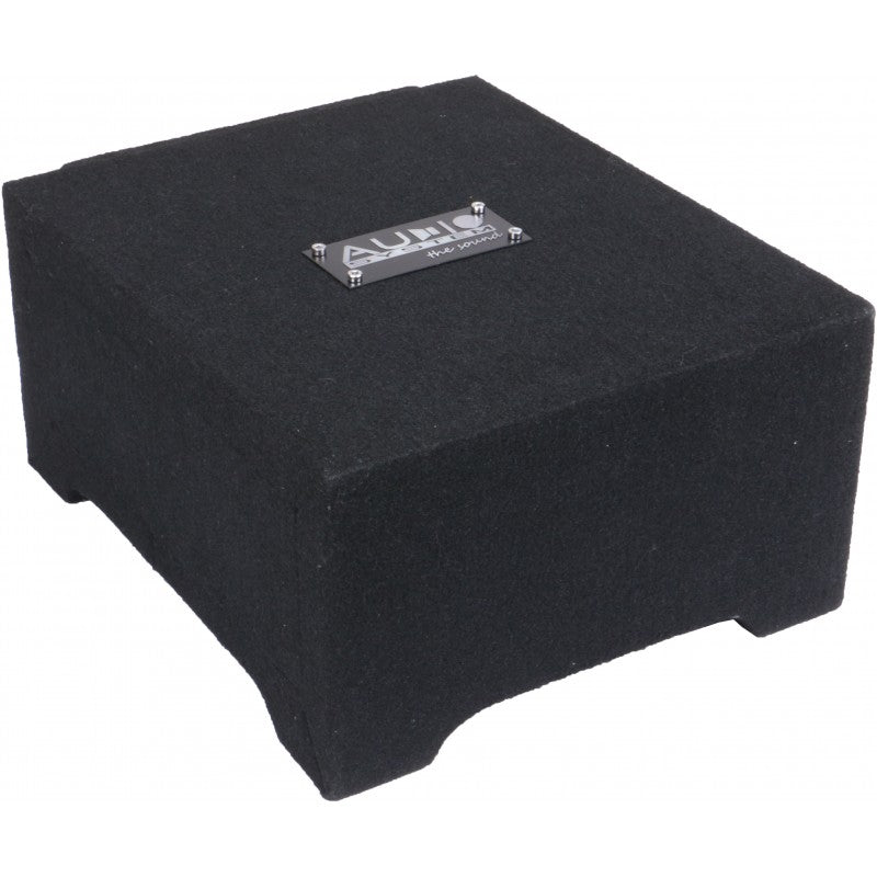 RADION-Serie HIGH EFFICIENT Down Fire Subwooferbox 8 liter met R08 Flat , 250/150 Watt