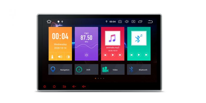 2 Din Universeel Android 10 Octa Core 10.1 inch Smart Multimedia Systeem