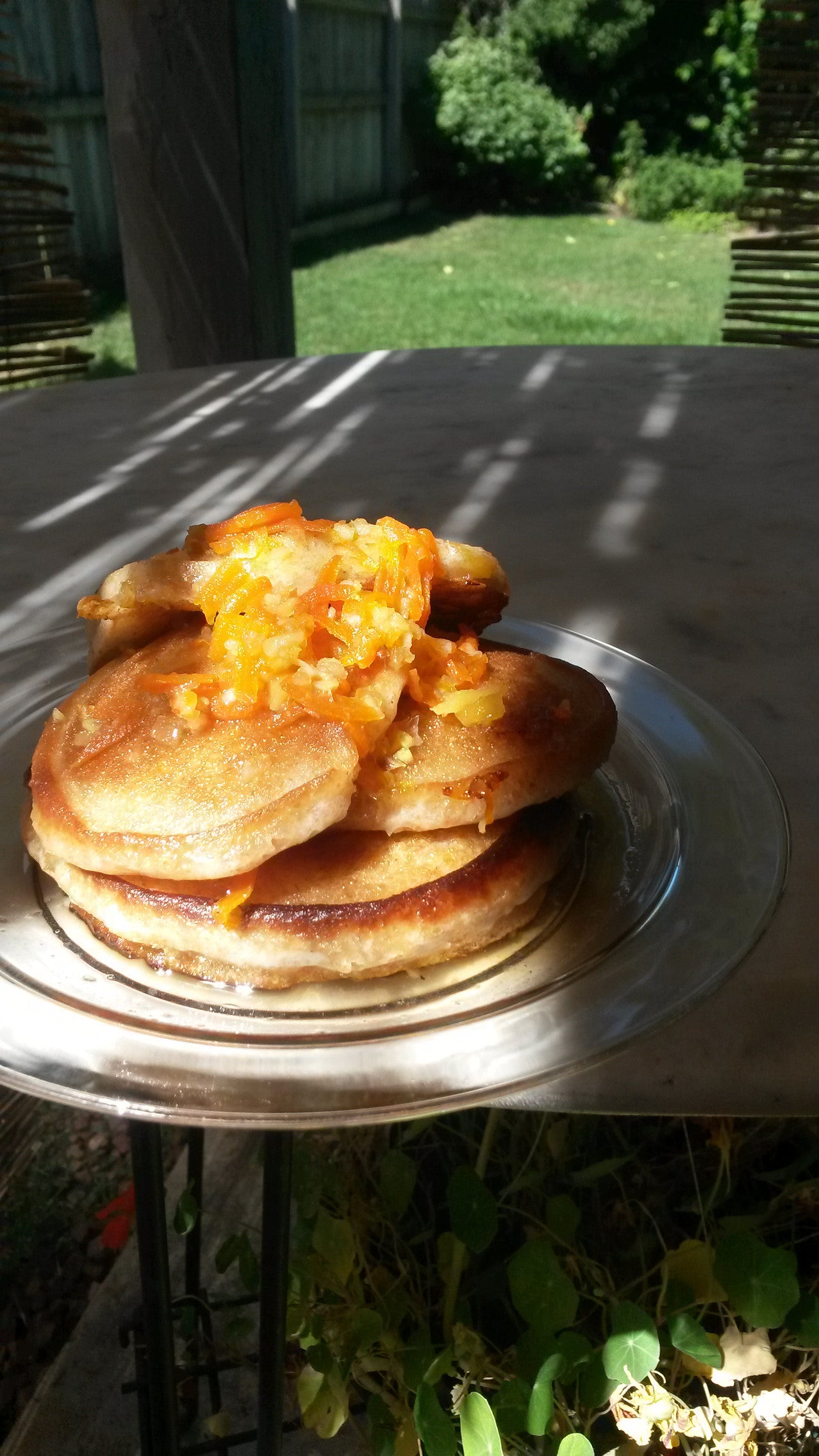 Whole Wheat Pancakes woth Carrot Ginger Marmalade