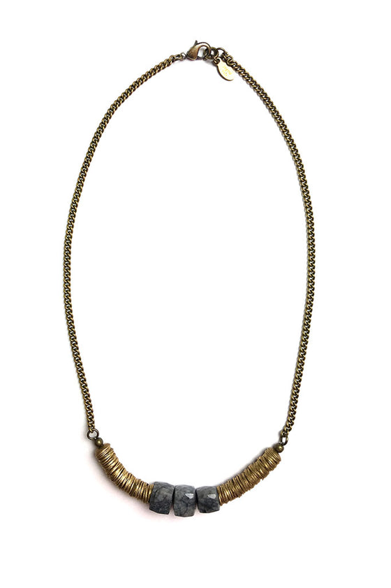 Brass Sodalite Necklace