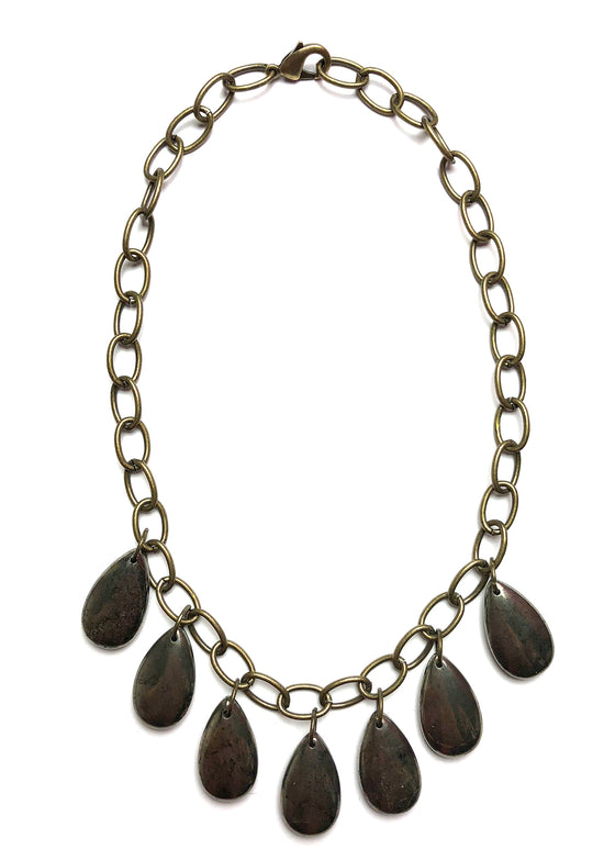 Pyrite Drops Necklace