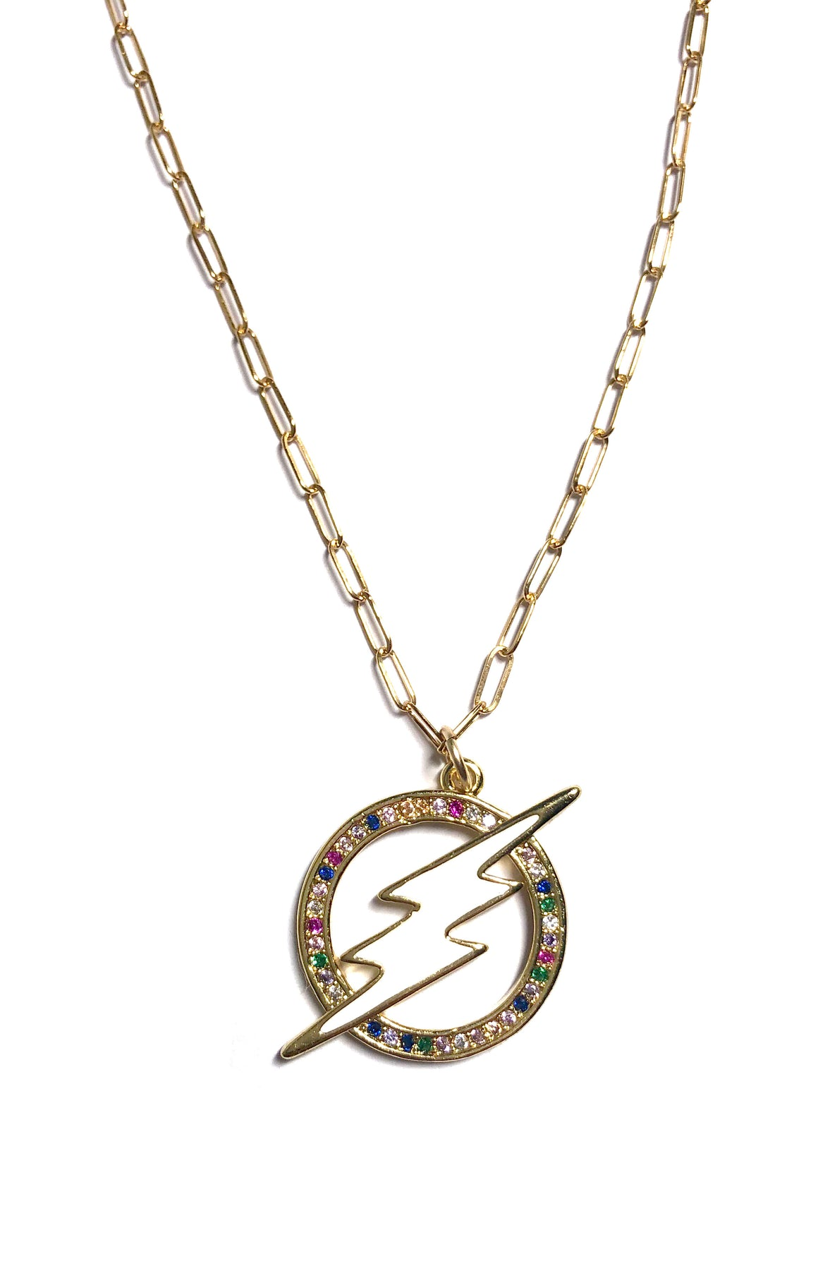 Multicolor Lightning Necklace