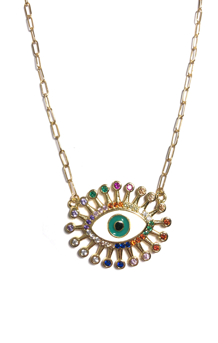 Multicolor Eye Necklace