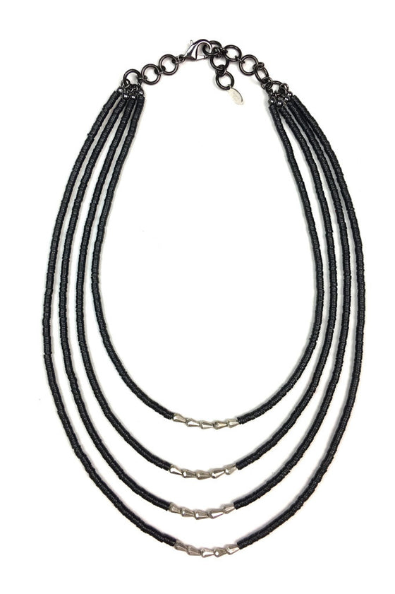 Multi Layered African Vinyl Necklace